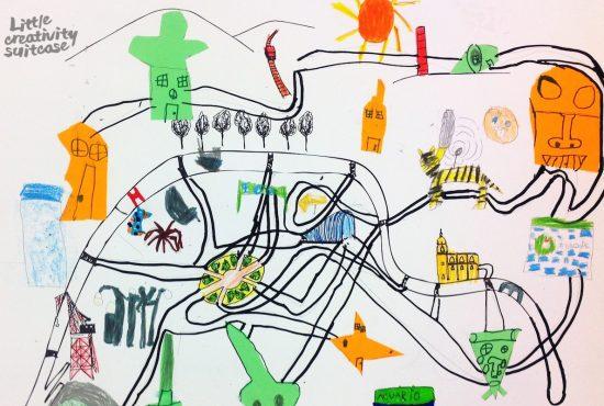 ¿Alguna vez has creado tu propio mapa con tus hijos? Ya verás que divertido es.