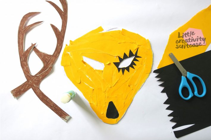 Tiermaske Basteln Little Creativity Suitcase