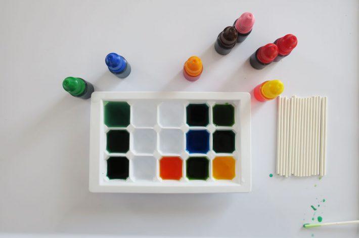 Pequeños experimentos con colorantes alimenticios