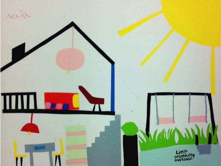 Pequeños arquitectos - Collage con niños
