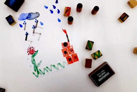 Kreatives Stempelspiel